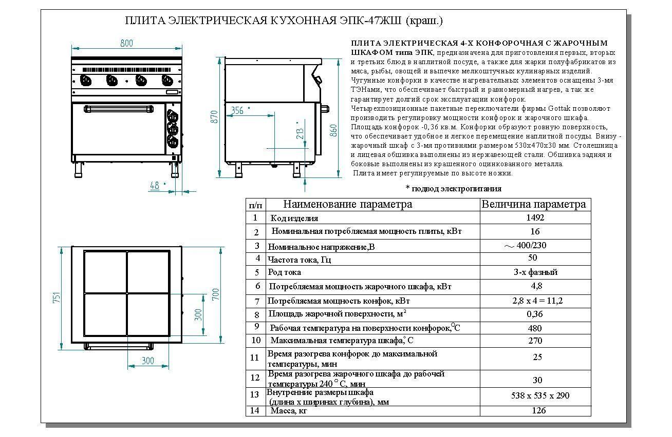 Электроплита эп 4жш схема